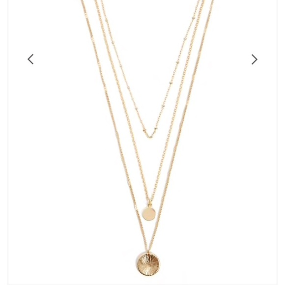 Forever 21 jewelry gold pendant necklace set poshmark gold pendant necklace set aloadofball Images